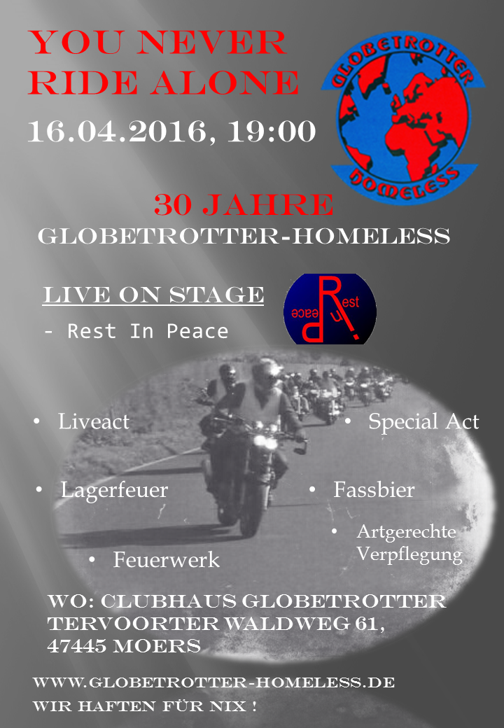 The Globetrotter Homeless im 30. Jahr